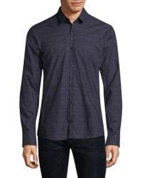 HUGO - Ero Boxed Cotton Button-down Shirt - Lyst