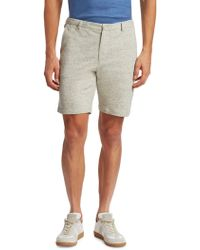 Saks Fifth Avenue - Modern Heather Modern-fit Cotton Shorts - Lyst