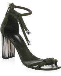 Oscar de la Renta - Leather Ankle-strap Sandals - Lyst