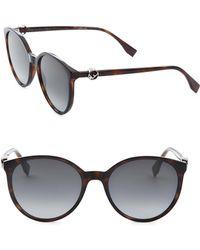 Fendi - 56mm Round Sunglasses - Lyst