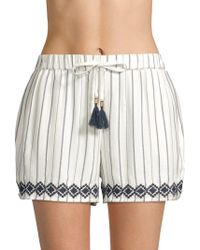 L*Space - Bonnie Embroidered Shorts - Lyst