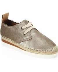 See By Chloé - Gly Suede Lace-up Espadrilles - Lyst