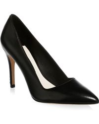 Alice + Olivia - Point Toe Leather Pumps - Lyst