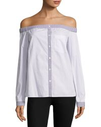 Professional Top Quality Bailey 44 Woman Ominous Stranger Off-the-shoulder Cotton-blend Poplin Top White Size S Bailey 44 Looking For Online Sale In China RYbtI6eS