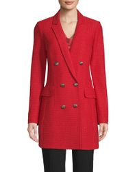St. John - Adina Wool Blend Double-breasted Coat - Lyst