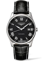 Longines - Stainless Steel & Alligator Leather Strap Watch - Lyst