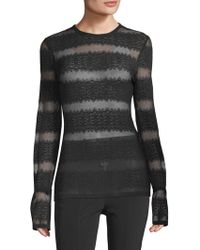Yigal Azrouël - Pleated Lace Top - Lyst