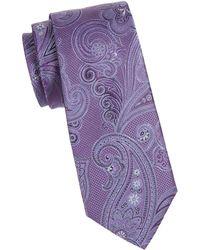 Ike Behar - Paisley Silk Tie - Lyst