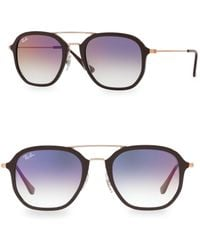 304010924d Ray-Ban - Women s 52mm Double Bridge Colored Sunglasses - Chocolate - Lyst