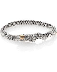 John Hardy - Naga 18k Yellow Gold & Sterling Silver Chain Bracelet - Lyst