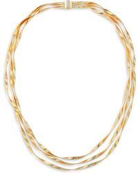 Marco Bicego - Marrakech Diamond, 18k Yellow & White Gold Multi-strand Necklace - Lyst