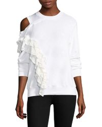 CLU | Panelled Ruffle Cold Shoulder Pullover | Lyst