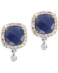 Meira T - Blue Sapphire & 14k Yellow Gold Drop Earrings - Lyst