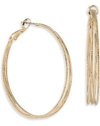 ABS By Allen Schwartz - Venice Beach Hoop Earrings - Lyst