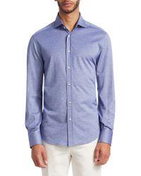 Brunello Cucinelli - Button-down Jersey Shirt - Lyst