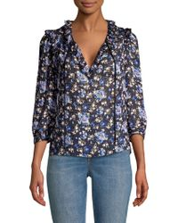 Rebecca Taylor - Floral Solstice Silk Cotton Top - Lyst