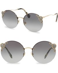 Miu Miu - 60mm Round Sunglasses - Lyst