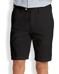 Saks Fifth Avenue - Cotton Oxford Shorts - Lyst