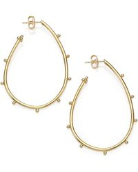 Temple St. Clair - Classic 18k Yellow Gold Granulated Pear Hoop Earrings - Lyst