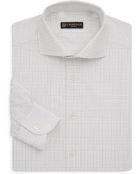 Corneliani - Regular-fit Windowpane Cotton Dress Shirt - Lyst