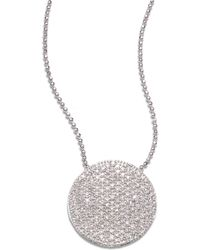 Phillips House - Pavé 14k White Gold & Diamond Large Infinity Disc Necklace - Lyst