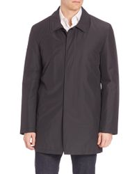 Isaia - Solid Wool Blend Overcoat - Lyst