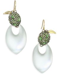 Alexis Bittar - Lucite Crystal Encrusted Lime Drop Earrings - Lyst