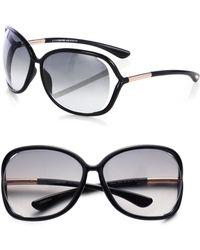 Tom Ford - Raquel 68mm Oversized Sunglasses - Black/grey - Lyst