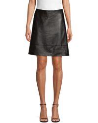 Elie Tahari - Lexie Leather Mini Skirt - Lyst