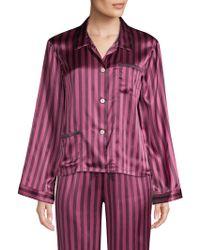 Morgan Lane - Ruthie Silk Striped Pajama Top - Lyst