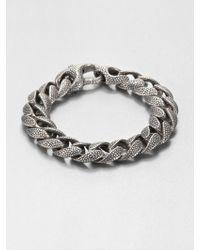 Stephen Webster - Silver Rayskin Curb Link Bracelet - Lyst