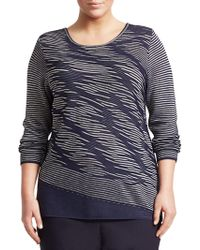 NIC+ZOE - This Is Living Striped Top - Lyst