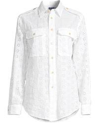 Polo Ralph Lauren Eyelet Linen Button-down Shirt