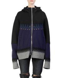 Sacai - Nordic Sweater Hoodie - Lyst