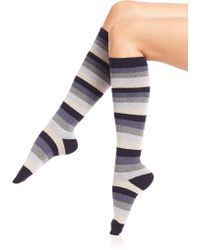 Ilux - Candy Cane Striped Knee High Socks - Lyst