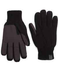 Bickley + Mitchell | Faux Suede Palm Knit Gloves | Lyst