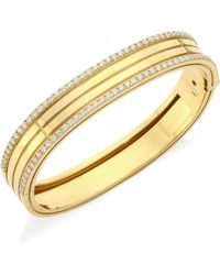 Roberto Coin - Portofino 18k Yellow Gold & Diamond Bangle - Lyst