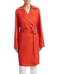 Akris Punto | Double Breasted Trench Coat | Lyst