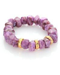 Nest - Purple Agate Stretch Bracelet - Lyst