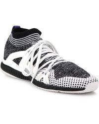 76097291e Adidas By Stella Mccartney Black   White Crazytrain Bounce Sneakers ...