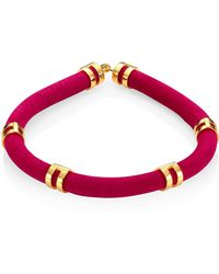 Lizzie Fortunato - Double Take Suede Tube Necklace - Lyst