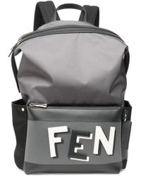 Fendi - Santander Logo Backpack - Lyst