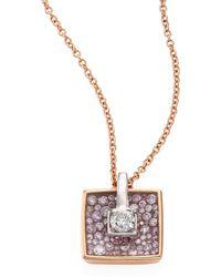 Plevé - Opus Diamond & 18k Yellow Gold Cushion Pendant Necklace - Lyst
