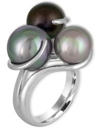 Majorica - 9-12mm Organic Pearl & Sterling Silver Ring - Lyst