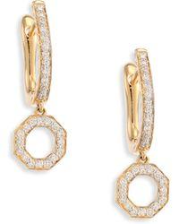Phillips House - Open Hero Diamond & 14k Yellow Gold Drop Earrings - Lyst