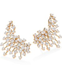 Hueb | Luminus Diamond & 18k Yellow Gold Ear Cuffs | Lyst