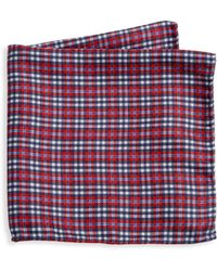 Saks Fifth Avenue - Collection Reversible Plaid Silk Pocket Square - Lyst