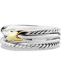David Yurman - X Crossover Ring With Gold - Lyst