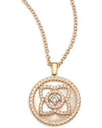 De Beers - Enchanted Lotus Reversible Diamond & Mother-of-pearl Pendant Necklace - Lyst