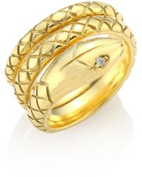 Temple St. Clair - Double Serpant Diamond & 18k Yellow Gold Ring - Lyst